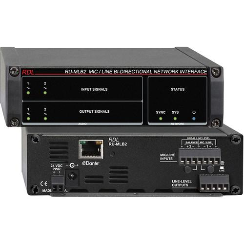 RDL RU-MLB2 Mic/Line-Level Bi-Directional Network RU-MLB2
