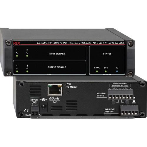 RDL RU-MLB2P Mic/Line-Level Bi-Directional Network RU-MLB2P