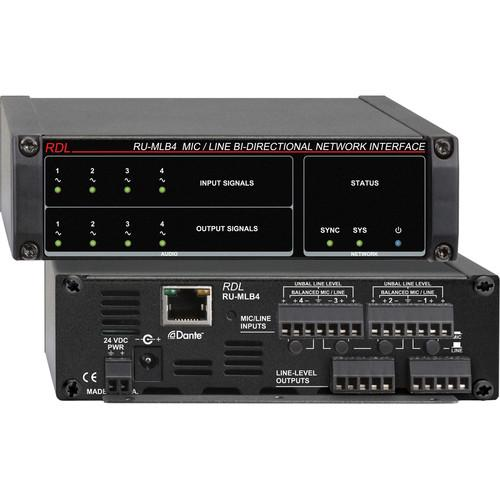 RDL RU-MLB4 Mic/Line-Level Bi-Directional Network RU-MLB4