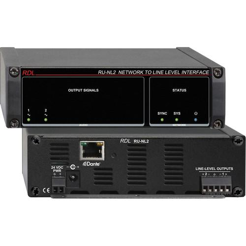 RDL RU-NL2 Network to Line-Level Interface (Two-Channel) RU-NL2