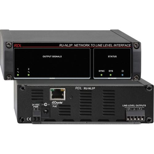 RDL RU-NL2P Network to Line-Level Interface RU-NL2P