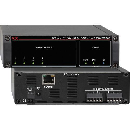 RDL RU-NL4 Network to Line-Level Interface (Four-Channel) RU-NL4
