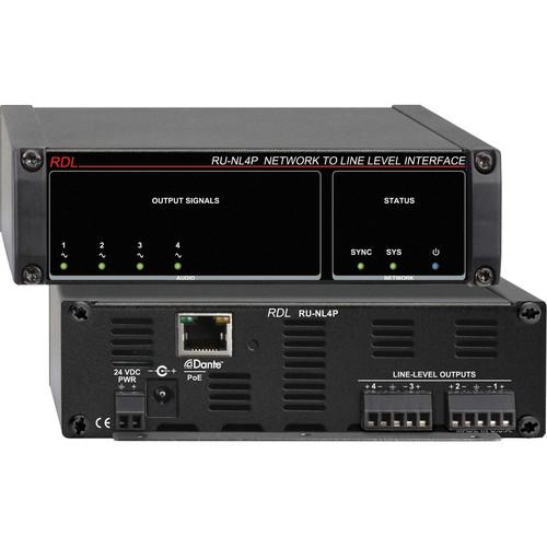 RDL RU-NL4P Network to Line-Level Interface RU-NL4P