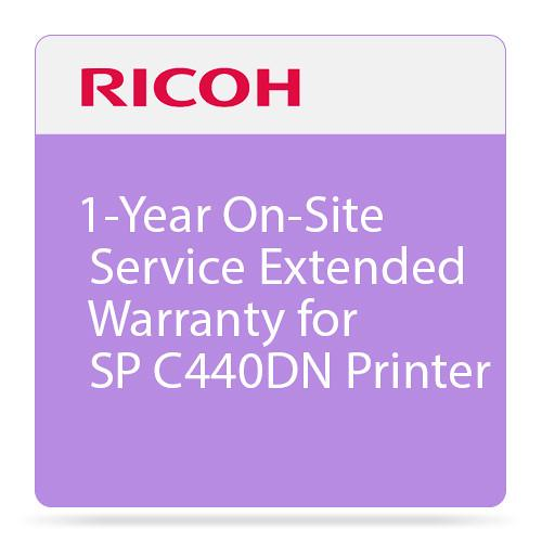 Ricoh 1-Year On-Site Service Extended Warranty 008092MIU-PS1