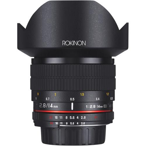 Rokinon 14mm f/2.8 IF ED UMC Lens For Canon EF with AE AE14M-C