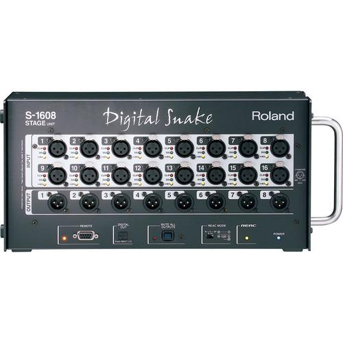 Roland S-1608 16x8 Stage Unit Digital Snake System S-1608