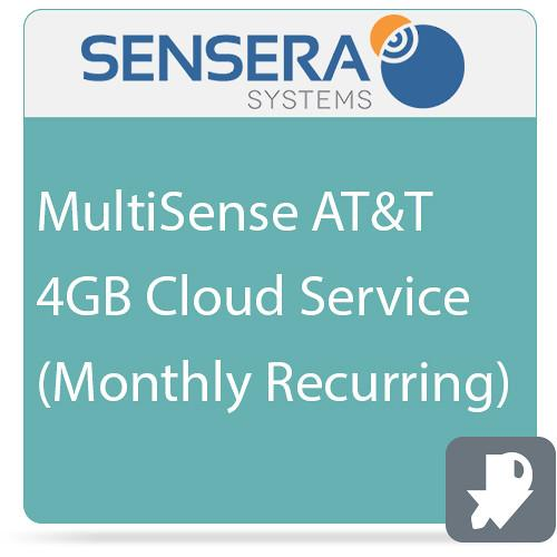 Sensera MultiSense AT&T 4GB Cloud Service CS-XA-1C4