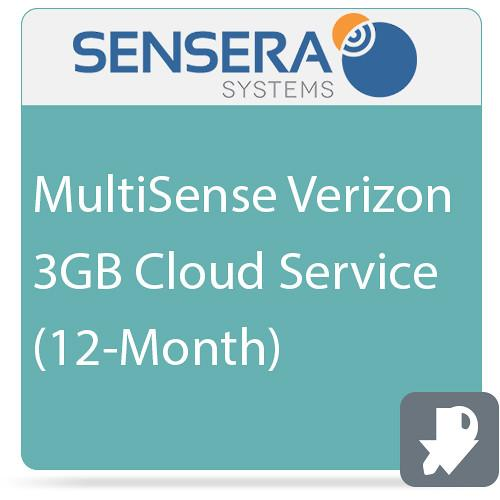 Sensera MultiSense Verizon 3GB Cloud Service (12-Month)