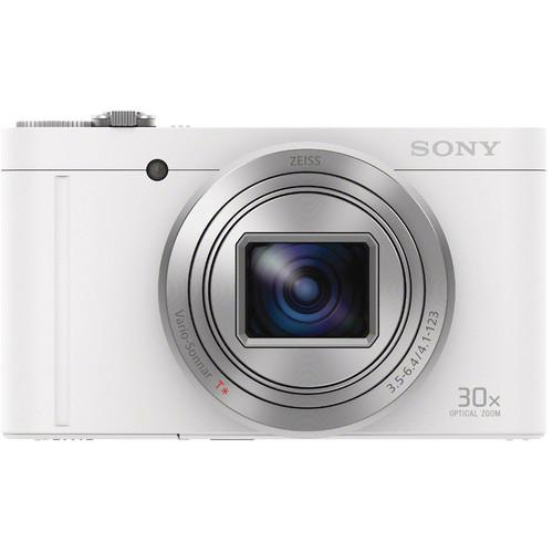Sony Cyber-shot DSC-WX500 Digital Camera Deluxe Kit (White)