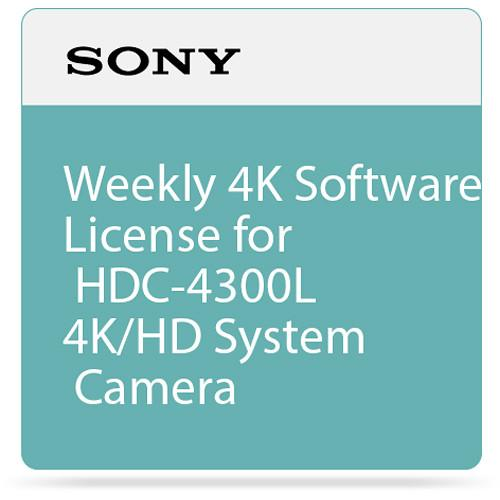 Sony Weekly 4K Software License for HDC-4300L 4K/HD SZC4001W
