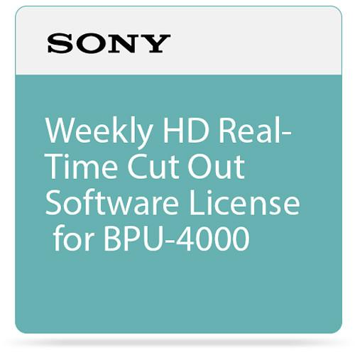 Sony Weekly HD Real-Time Cut Out Software License SZC-2001W
