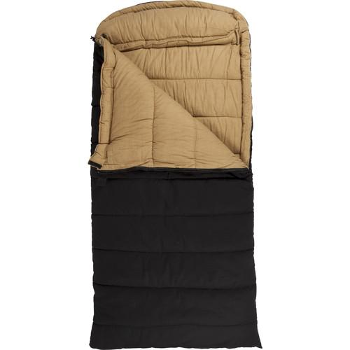 TETON Sports Deer Hunter Sleeping Bag (Black, Right-Hand) 1027R
