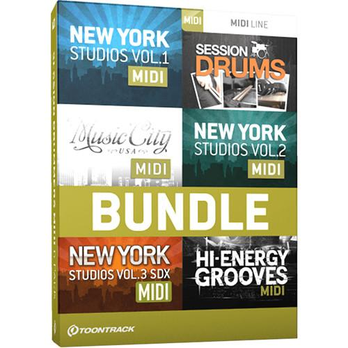 Toontrack Session Drummers MIDI 6 Pack - Drum MIDI Packs TT060SN