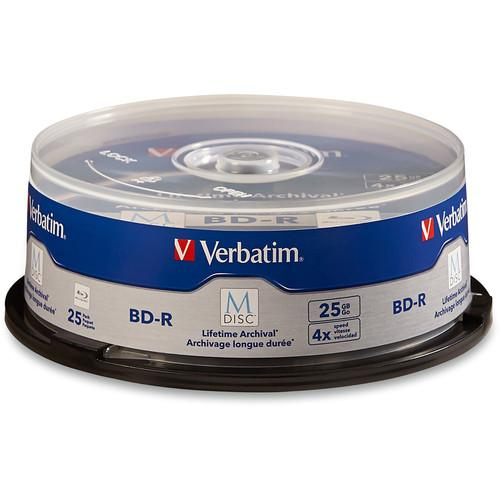 Verbatim 25GB BD-R 4x M-Discs with Branded Surface 98909