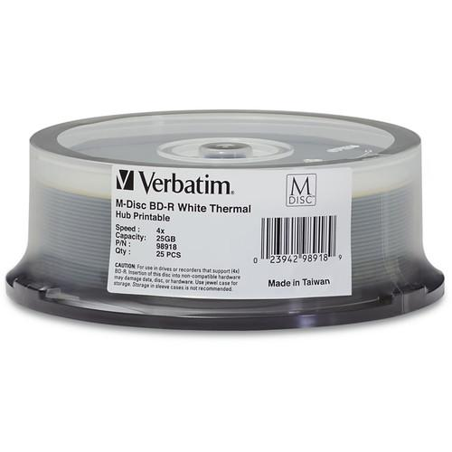 Verbatim 25GB BD-R 4x White Thermal Printable/Hub 98918