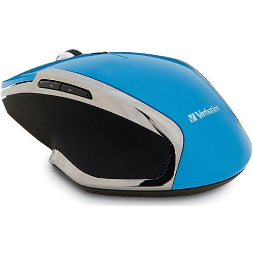 Verbatim Wireless Notebook 6-Button Deluxe Blue LED Mouse 99016
