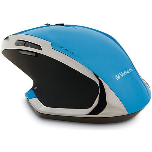 Verbatim Wireless Notebook 8-Button Deluxe Blue LED Mouse 99019