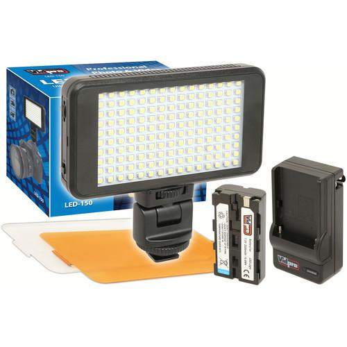 Vidpro Ultra-Slim LED-150 On-Camera Video Lighting Kit LED-150