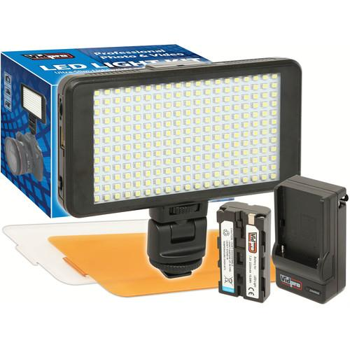 Vidpro Ultra-Slim LED-230 On-Camera Video Lighting Kit LED-230