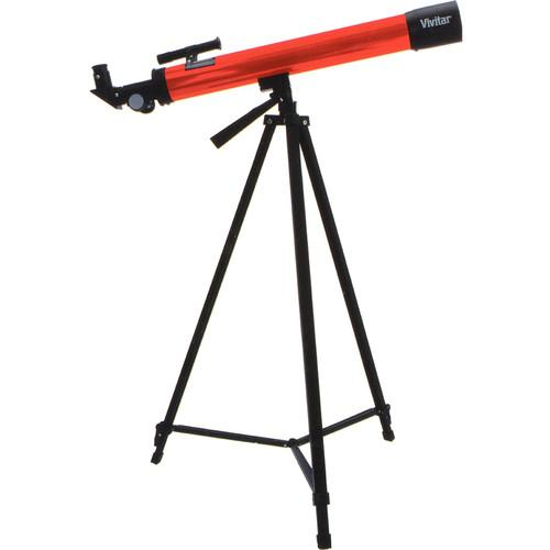 Vivitar 75160 50mm f/12 Refractor Telescope VIV-TEL-160X-RED