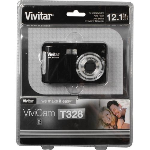 Vivitar ViviCam T328 Digital Camera (Black) VT328-BLACK