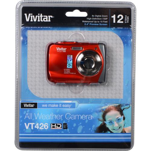 Vivitar ViviCam T426 Digital Camera (Red) VT426-RED-INT
