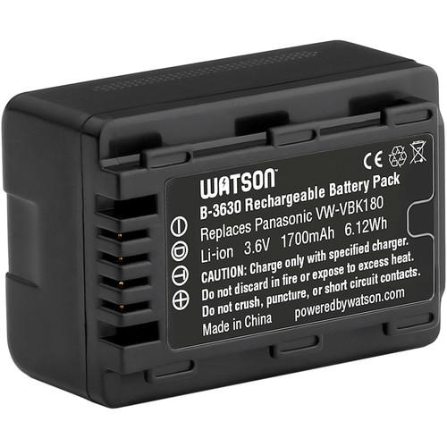 Watson VW-VBK180 Lithium-Ion Battery Pack (3.6V, 1700mAh) B-3630