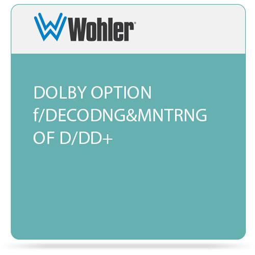 Wohler Dolby D/E/DD  Decoding & Monitoring Card OPT-DOLB