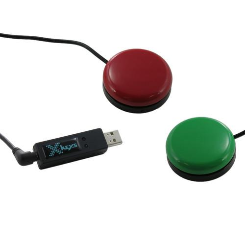 X-keys USB 3 Switch Interface with Red and Green XK-1304-OGR-BU