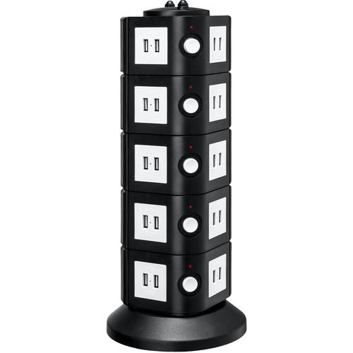 Yubi Power 40-Port USB Charging Power Tower TOW-5L-USB