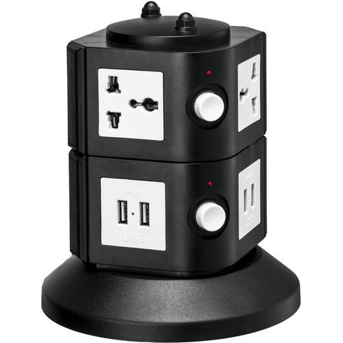 Yubi Power Power Tower with 4 Surge-Protected TOW-2L-UNI