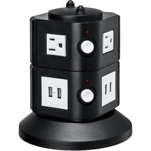 Yubi Power Power Tower with 4 Surge-Protected USA TOW-2L-USA
