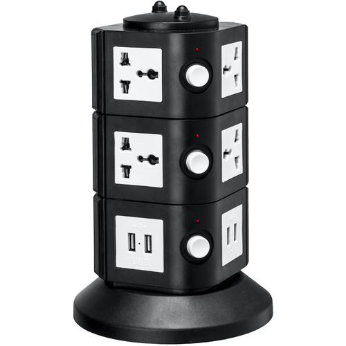 Yubi Power Power Tower with 8 Surge-Protected TOW-3L-UNI
