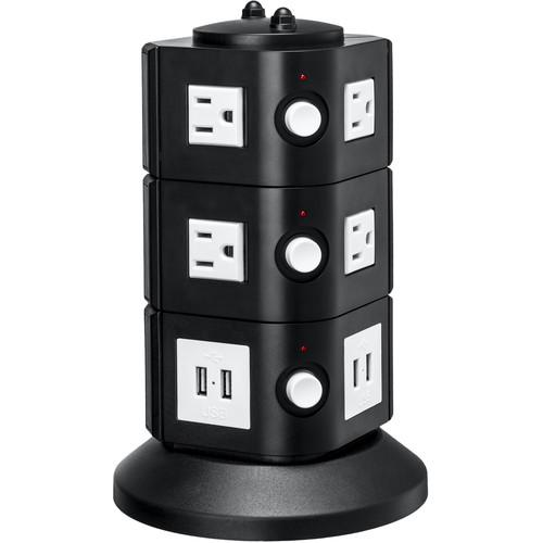 Yubi Power Power Tower with 8 Surge-Protected USA TOW-3L-USA
