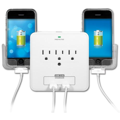 Yubi Power Wall Charging Station with 3 Outlets YBW3P2US21PH