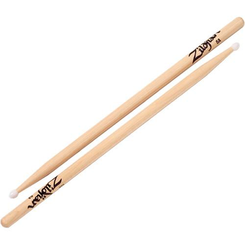 Zildjian 5A Hickory Drumsticks with Oval Nylon Tips 5ANN-1