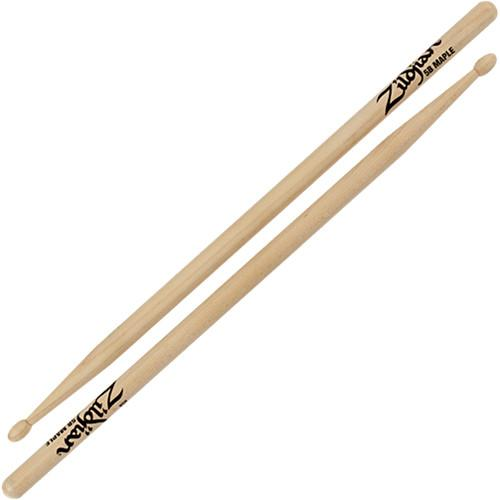 Zildjian 5B Maple Drumsticks with Tear Drop Wood Tips 5BM-1