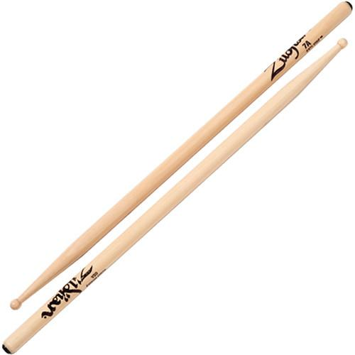 Zildjian 7A Hickory Drumsticks with Round Wood Tips 7AWA-1