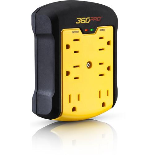 360 Electrical 6-Outlet Heavy-Duty Wall Tap Surge Protector