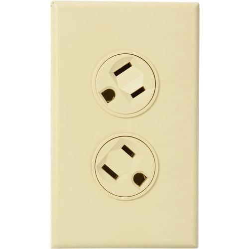 360 Electrical Rotating Duplex Outlet (Almond) 36012-A