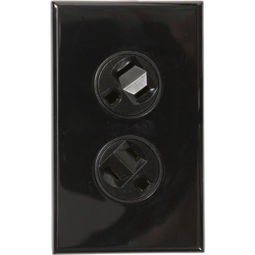 360 Electrical Rotating Duplex Outlet (Black) 36014-B