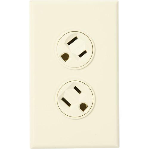 360 Electrical Rotating Duplex Outlet (Ivory) 36011-I
