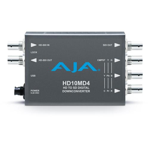 AJA HD-SDI to SD-SDI Digital and Analog Down-Converter HD10MD4