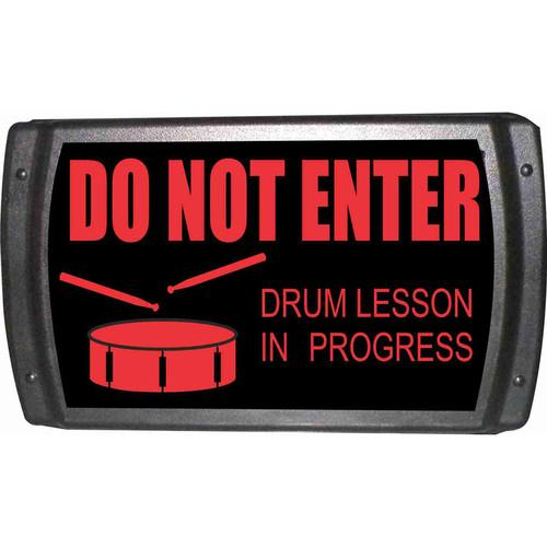 American Recorder OAS-2007-RD DRUM LESSON Sign OAS-2007-RD