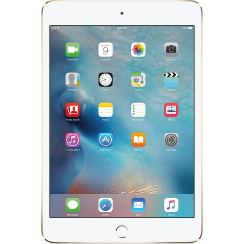 Apple 128GB iPad mini 4 (Wi-Fi   4G LTE, Gold) MK8F2LL/A
