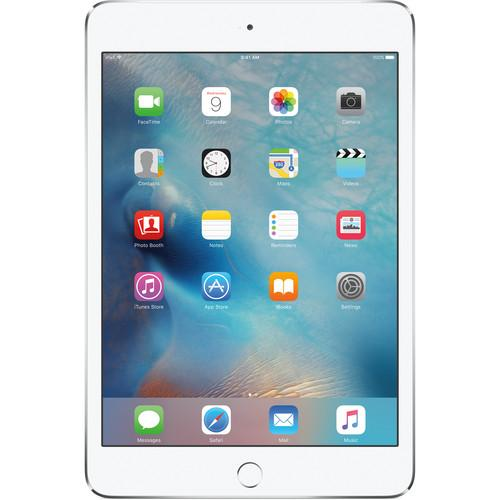 Apple 128GB iPad mini 4 (Wi-Fi   4G LTE, Silver) MK8E2LL/A