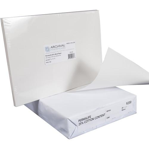 Archival Methods Permalife 20 lb Bond Paper 132-1117