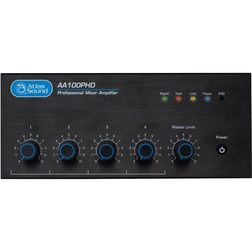 Atlas Sound Atlas Sound AA100PHD 4-Input 100W BGM Mixer AA100PHD
