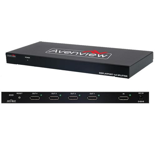Avenview 1x4 Port DisplayPort Splitter with PCM SPLIT-DPDL-4A