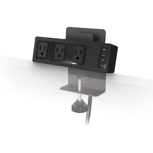 Balt Clamp Mount Outlet & USB Charger with 3 AC 66675